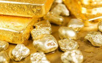 Cena zlata a zlaté hrudky ilustračný obrázok