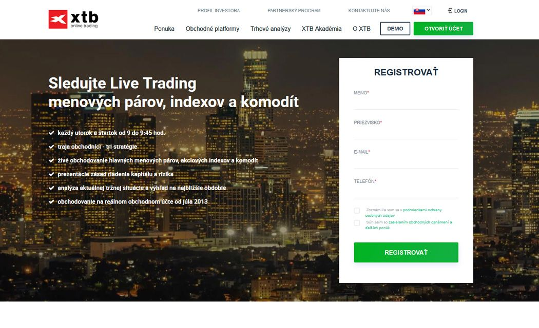 broker xtb demo live trading informácií