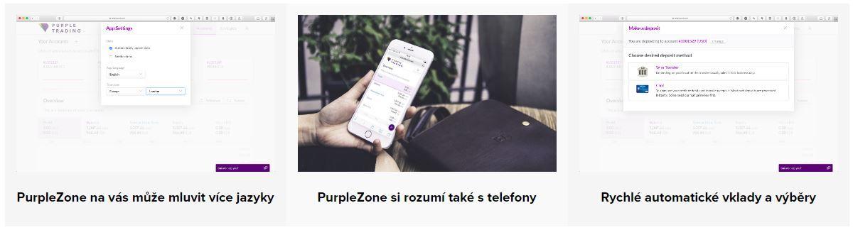 platforma purple zone popis funkcií