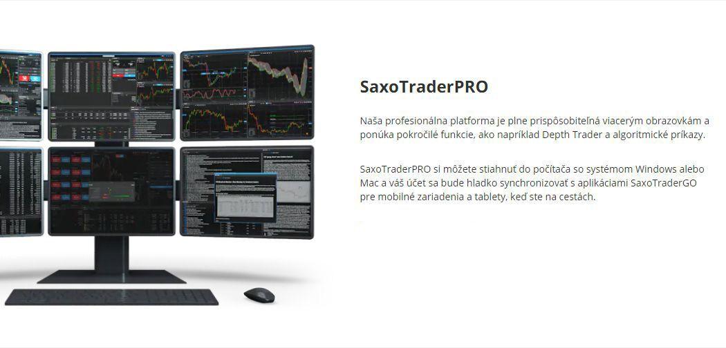 obchodná platforma SaxoTraderPRO