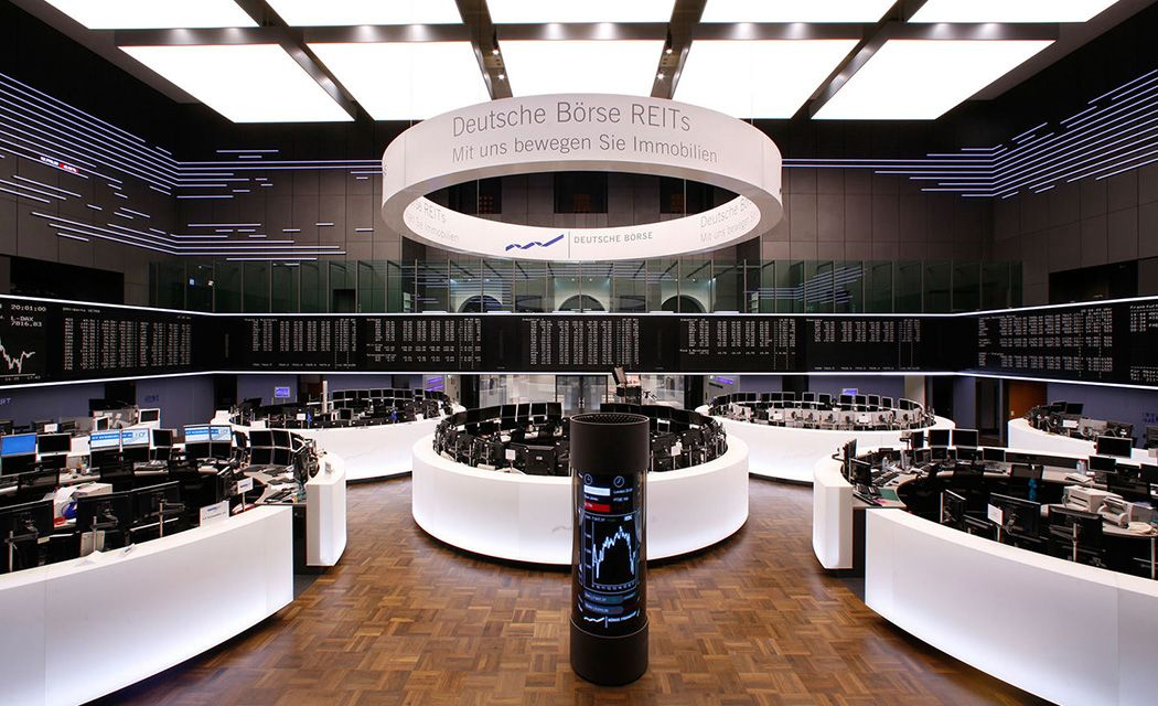 Trading floor burzy vo Frankfurte