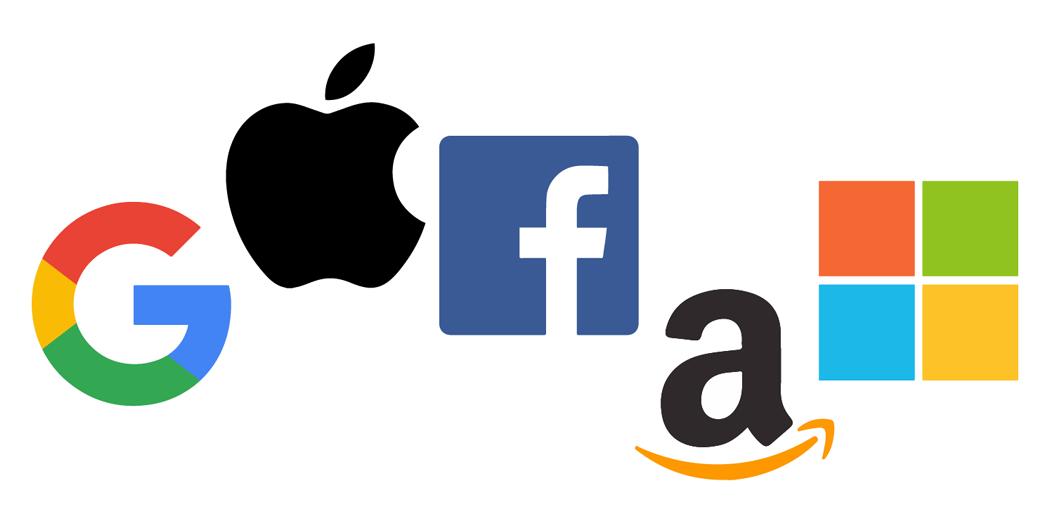 Najväčšie technologické spoločnosti / companies z indexu graf